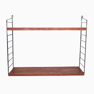 Teak String Shelf by Nisse Strinning for String, 1960s