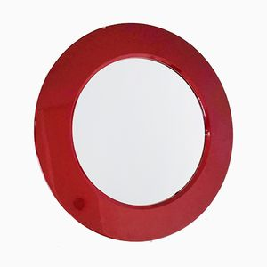 Vintage Red Wall Mirror, 1950s