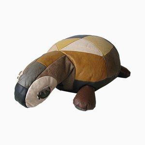 Puf vintage en forma de tortuga