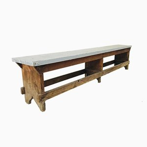 Vintage Wooden Bench, 1960s