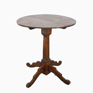 Antique Wooden Small Round Table, 1900s