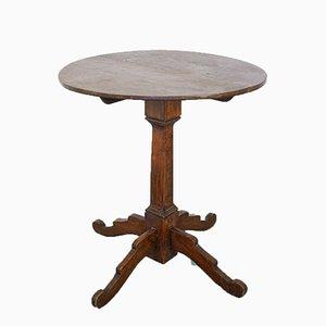 Tavolo rotondo antico in legno, inizio XX secolo