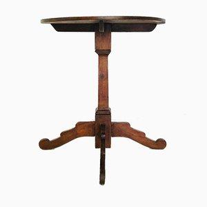 Petite Table Ronde Antique en Bois, 1900s