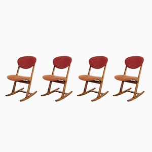 Rocking Dining Chairs, 1960s, Set of 4