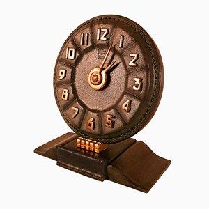 Orologio Art Déco in pelle, anni '30