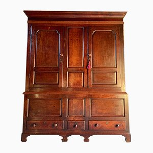 Antique 18th Century George III Oak Cupboard, 1780s