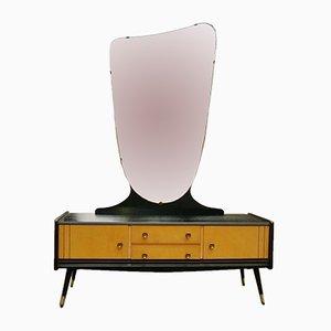 Frisiertisch mit asymmetrischem Spiegel, 1960er