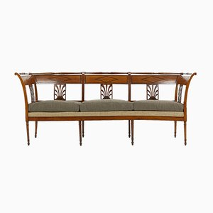 Französisches Sofa mit Gestell aus Kirschholz, 19. Jh.