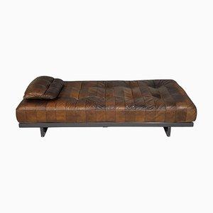 Sofá cama modelo DS 80 vintage de cuero de de Sede