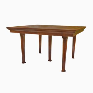 Antique Art Nouveau French Walnut Dining Table, 1900s
