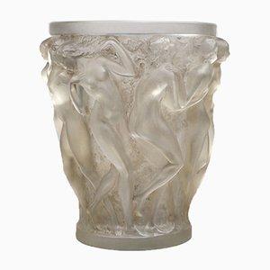 Vaso in vetro con figurine di baccanti di René Lalique, 1927