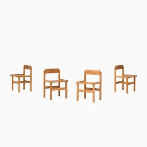 Chaises de Salle à Manger en Pin par Edvin Helseth et pour Stange Bruk, 1960s, Set de 4