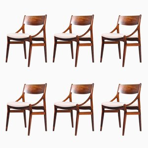 Rosewood Chairs by H. Vestervig Erikson for Brdr Tromborg Lystrup, 1960s, Set of 6
