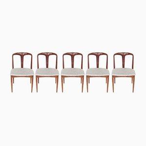 Vintage Juliane Esszimmerstühle von Johannes Andersen für Uldum Møbelfabrik, 1960er, 5er Set