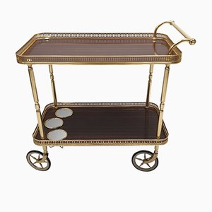 Neoclassical Style Brass Serving Trolley, 1960s