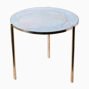 TINCT Tisch mit hellblauer Glasplatte von Justyna Poplawska
