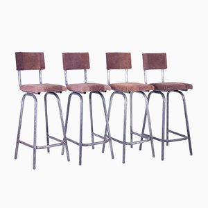 Vintage Bistro Bar Stools, Set of 4
