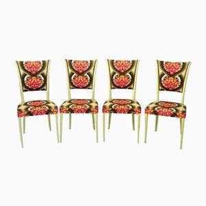 Vintage Wooden Chairs, 1960s, Set of 4