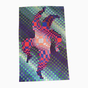 Panderlak Teppich von Victor Vasarely, 1980er