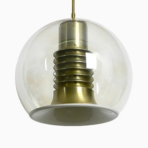 Large Space Age Ceiling Lamp with Glass Globe from Erco, 1960s