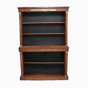 19th-Century Rosewood & Brass Inlaid Bookcase, 1820s