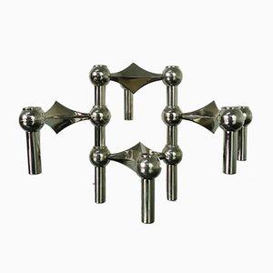 Portacandele modulari S22 di C. Stoffi & F. Nagel per BMF, anni '60, set di 4