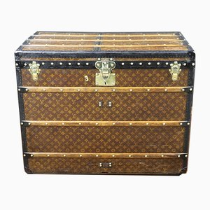 Vintage French Monogrammed Trunk from Louis Vuitton, 1920s