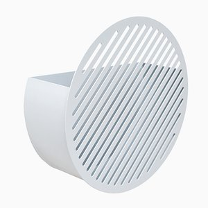 Medium White Diagonal Wall Basket by Andreasson & Leibel for Swedish Ninja, 2017