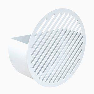 Small White Diagonal Wall Basket by Andreasson & Leibel for Swedish Ninja, 2017