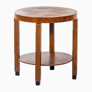 Vintage Dutch Side Table with Inlaid Wood, 1930s