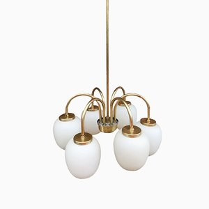 Mid-Century Chandelier by Bent Karlby for Lyfa, 1960s
