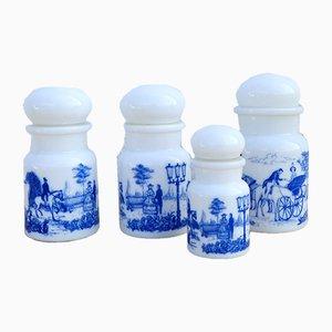 Mid-Century Belgian Apothecary Bottles, 1950s, Set of 4