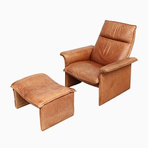 DS 50 Sessel und Fußhocker von de Sede, 1970er