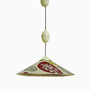 Deutsche Mid-Century Deckenlampe von Erco, 1950er