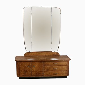 Mid-Century Mirrored Dressing Table, 1950s