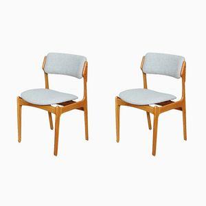 Modell 49 Esszimmerstühle von Erik Buch, 1960er, 2er Set