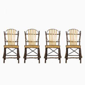 Chaises de Salle à Manger Amish Vintage, Etats-Unis, 1940s, Set de 4