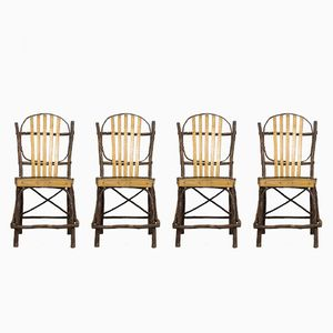 Vintage Amish American Dining Chairs, 1940s, Set of 4