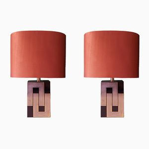 Mid-Century French Table Lamps, 1970s, Set of 2