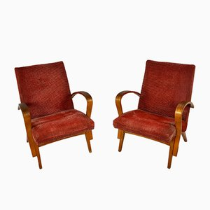 Mid-Century Czechoslovakian Lounge Chairs, 1970s, Set of 2