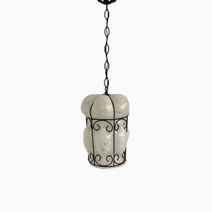 Lampe à Suspension Vintage en Verre Murano