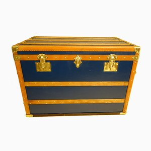 Vintage French Blue Trunk