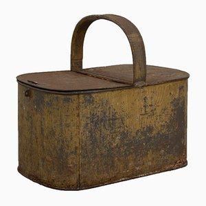 Cestino vintage in zinco con manico