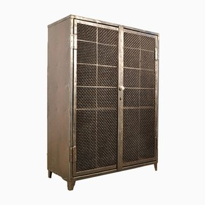 Vintage French Riveted Steel Cabinet