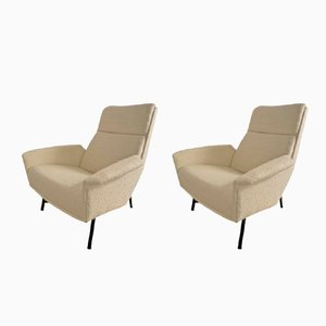 Vintage French Lounge Chairs by Claude Delor, Set of 2