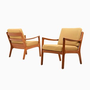 Vintage Senator Easy Chairs by Ole Wanscher for France & Søn, Set of 2