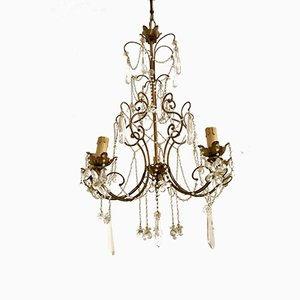 Vintage Murano Glass Flower Chandelier