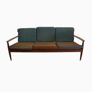 Großes Vintage 3-Sitzer Sofa aus Teak