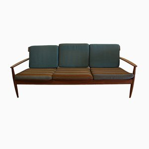 Large Vintage Teak Three-Seater Sofa