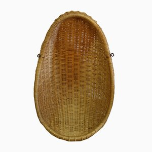 Vintage Rattan Hanging Egg Chair